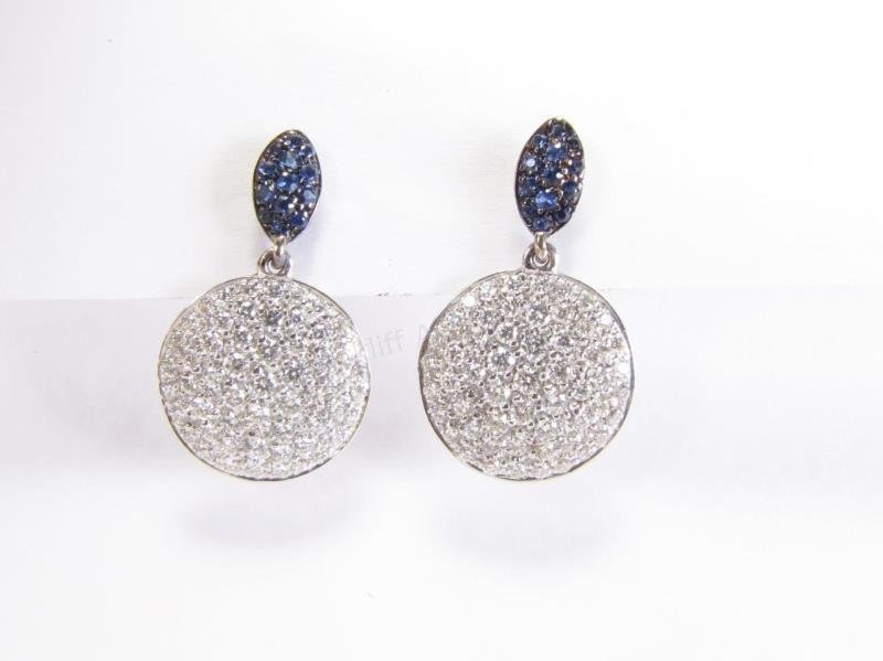 Luca Carati 18K Diamond, Sapphire Earrings