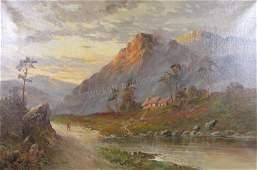 Campbell Scott 24x36 O/C Highland Landscape, Dusk