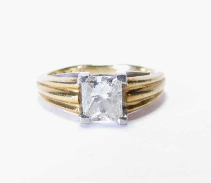 18K, Platinum LEO Princess Cut 1ct+ Diamond Ring