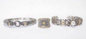 Barbara Bixby Sterling, 18k Bangles And Ring