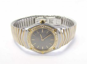 Lady's Ebel Diamond Bezel Wave Watch