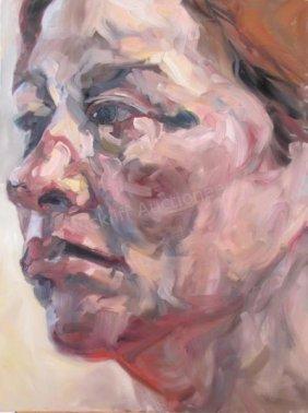 "Jennifer Hrabota 40x30 O/c ""#11-abstract Portrait"""