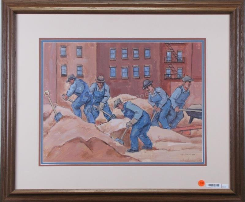 "Max Arthur Cohn 15x20 MM ""Construction Workers"""