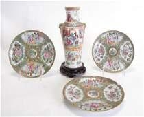Group of Antique Famille Rose Porcelain