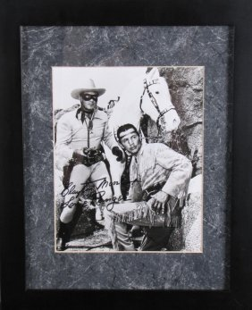 Clayton Moore Signed Photo, Lone Ranger