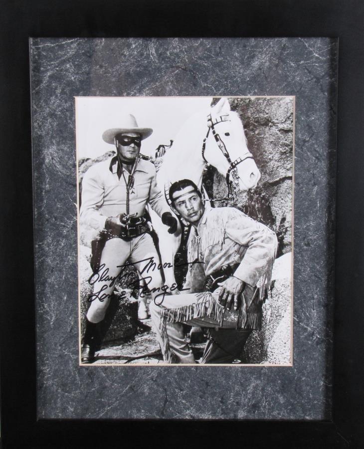 Clayton Moore Signed Photo, Lone Ranger