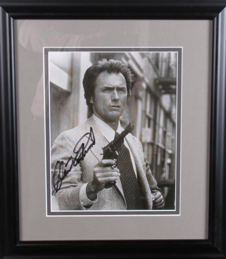 Clint Eastwood Signed Photograph in Dirty Harry