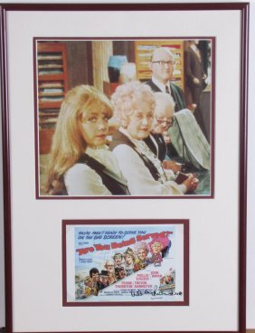 Wendy Richard Signed Promo Card, Cast Photo