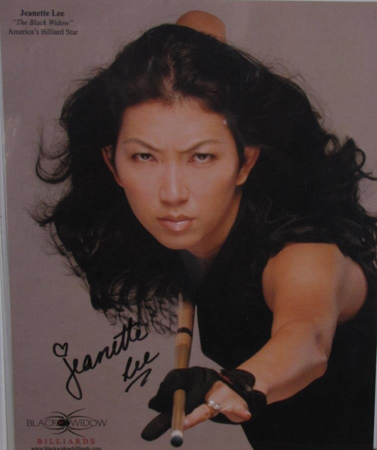 "Signed Jeanette Lee ""The Black Widow"" Headshot"