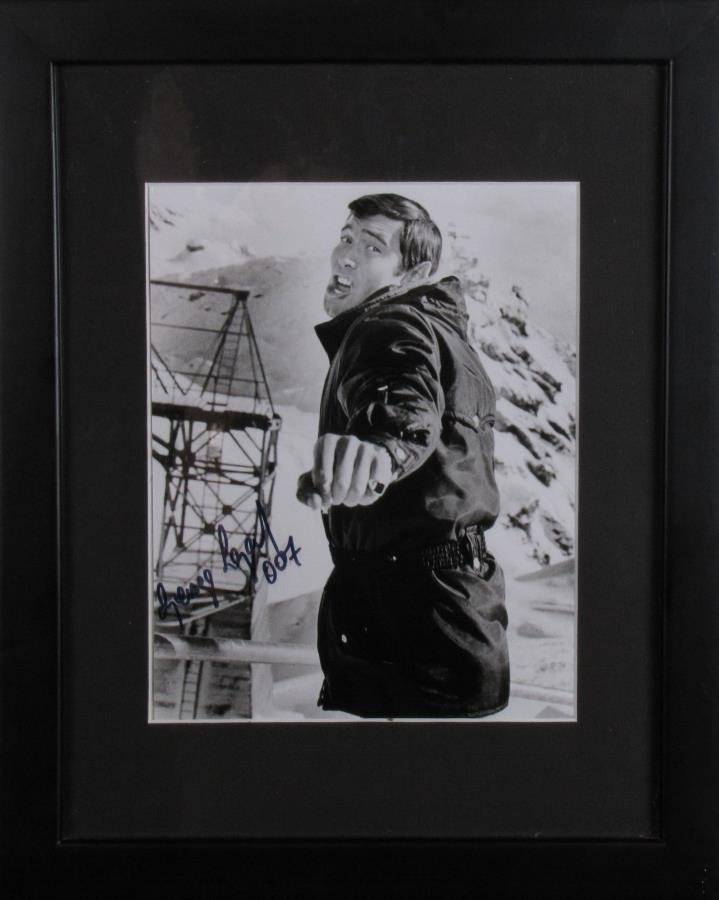 George Lazenby Signed Photo As James Bond