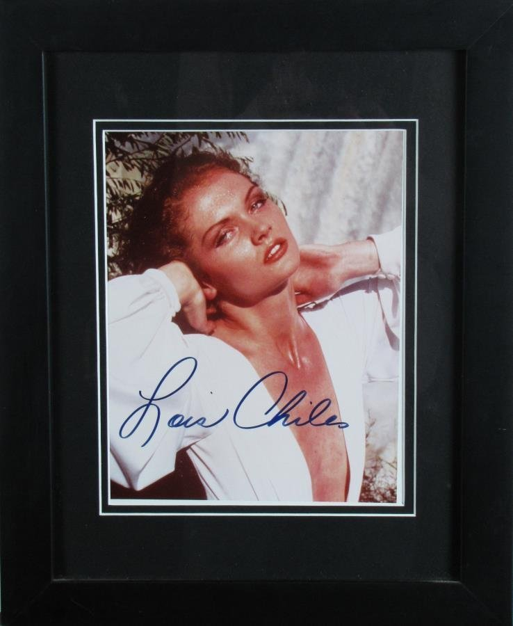 Lois Chiles Signed Photograph As Holly Goodhead