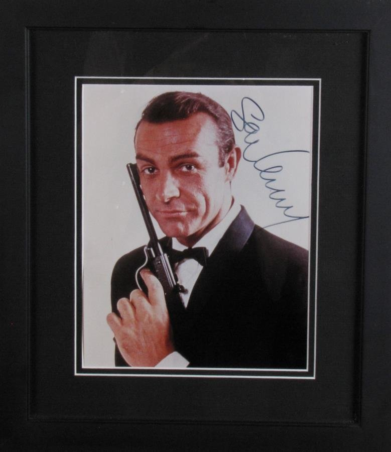 Sean Connery Signed Photo As James Bond