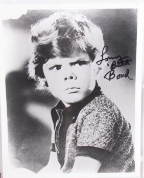 "Lonnie ""butch"" Bond Signed Headshot, Our Gang"