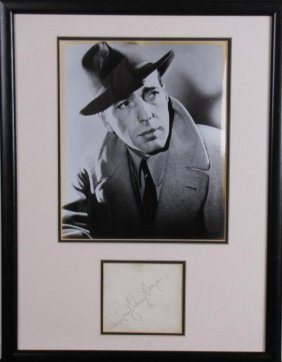 Humphrey Bogart Historical Photo, Signature Card
