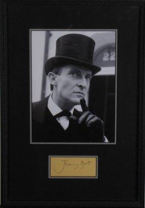 Jeremy Brett Vintage Photo, Signature Card