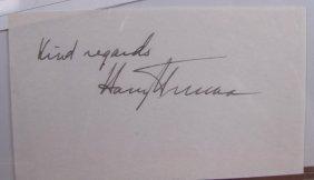 Harry Truman Signature Card