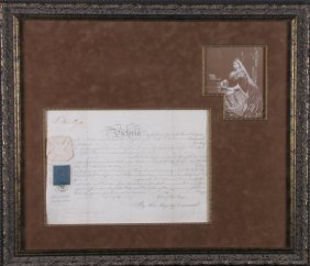 Queen Victoria Signed Promotion Of Rank