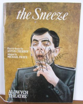 Rowan Atkinson, Timothy West Signed Program