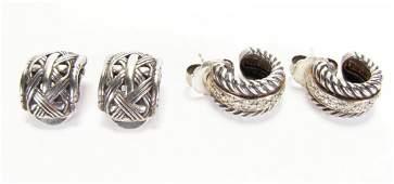 Sterling Diamond Yurman and Hardy Earrings