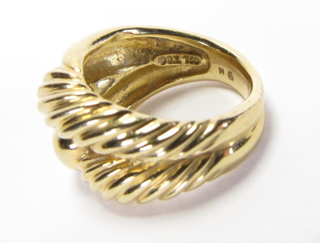 David Yurman 18K Yellow Gold Ring - 3