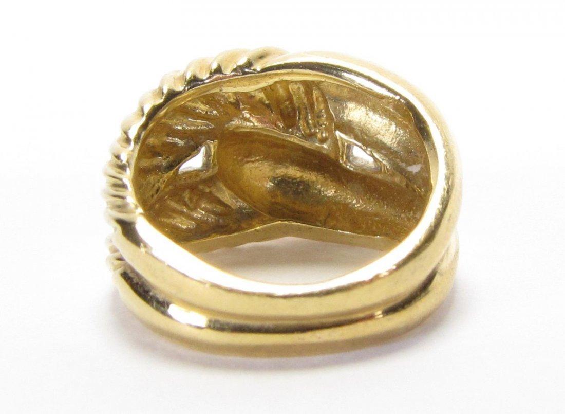 David Yurman 18K Yellow Gold Ring - 4