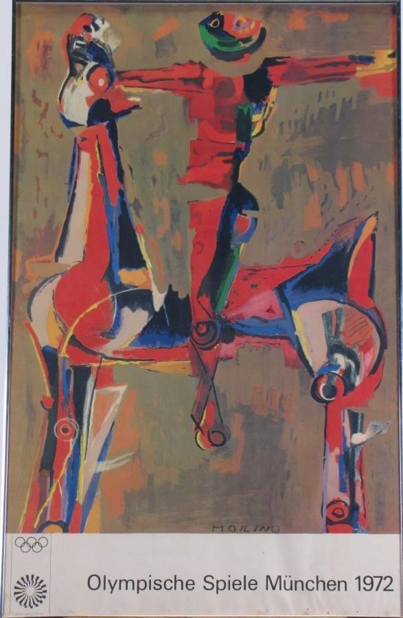 1972 Munich Olympics Poster, Marino Marini