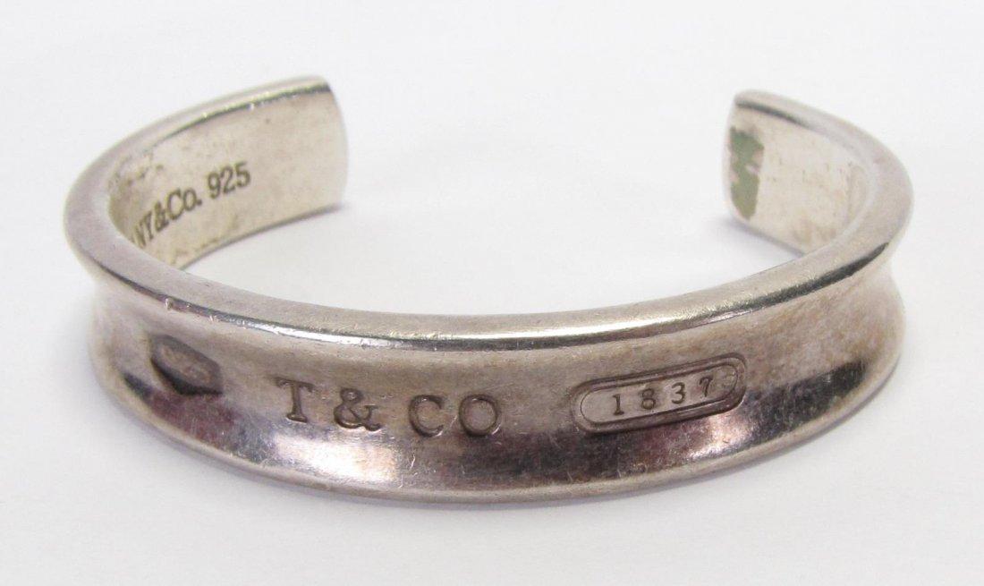 Tiffany & Co Sterling 1837 Cuff Bracelet - 3