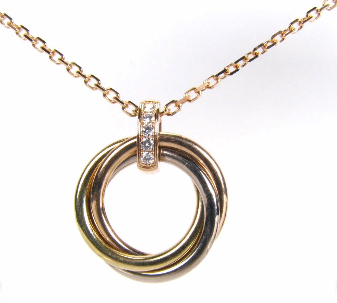 18K Cartier Trinity de Cartier Tri-Tone Necklace - 2