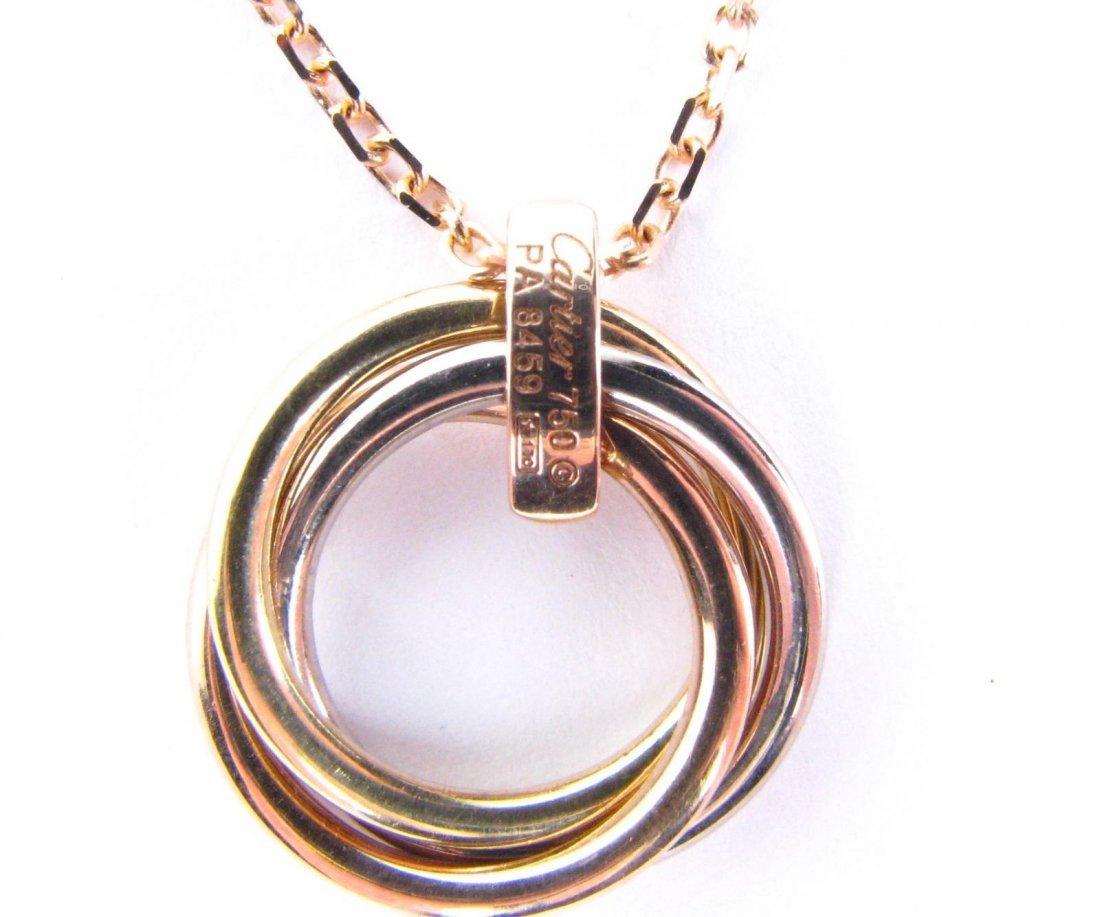 18K Cartier Trinity de Cartier Tri-Tone Necklace - 3