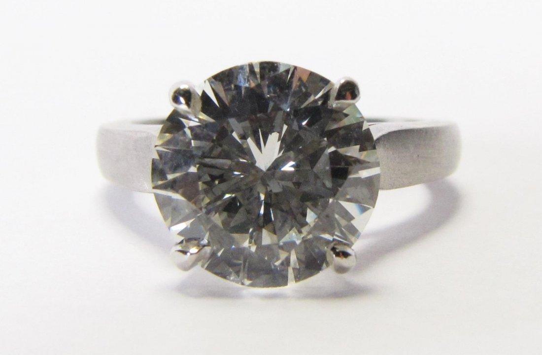 Platinum 3CT+ Diamond Solitaire Ring
