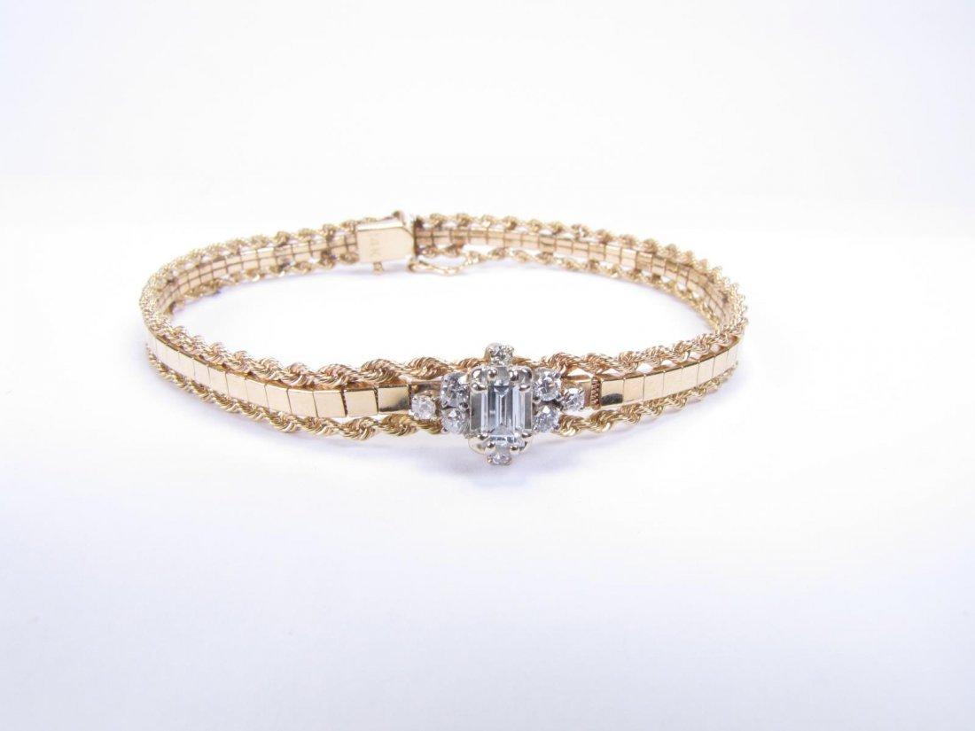 Vintage 14K WG / YG Diamond Bracelet - 2