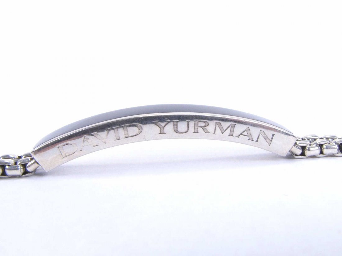Gentleman's David Yurman Sterling, Onyx Bracelet - 2