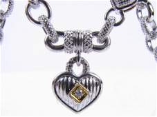 18K, Sterling Judith Ripka Diamond Necklace