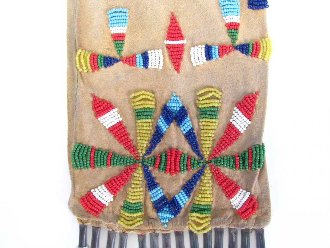Southern Plains Apache Beaded Pipe Bag - 3
