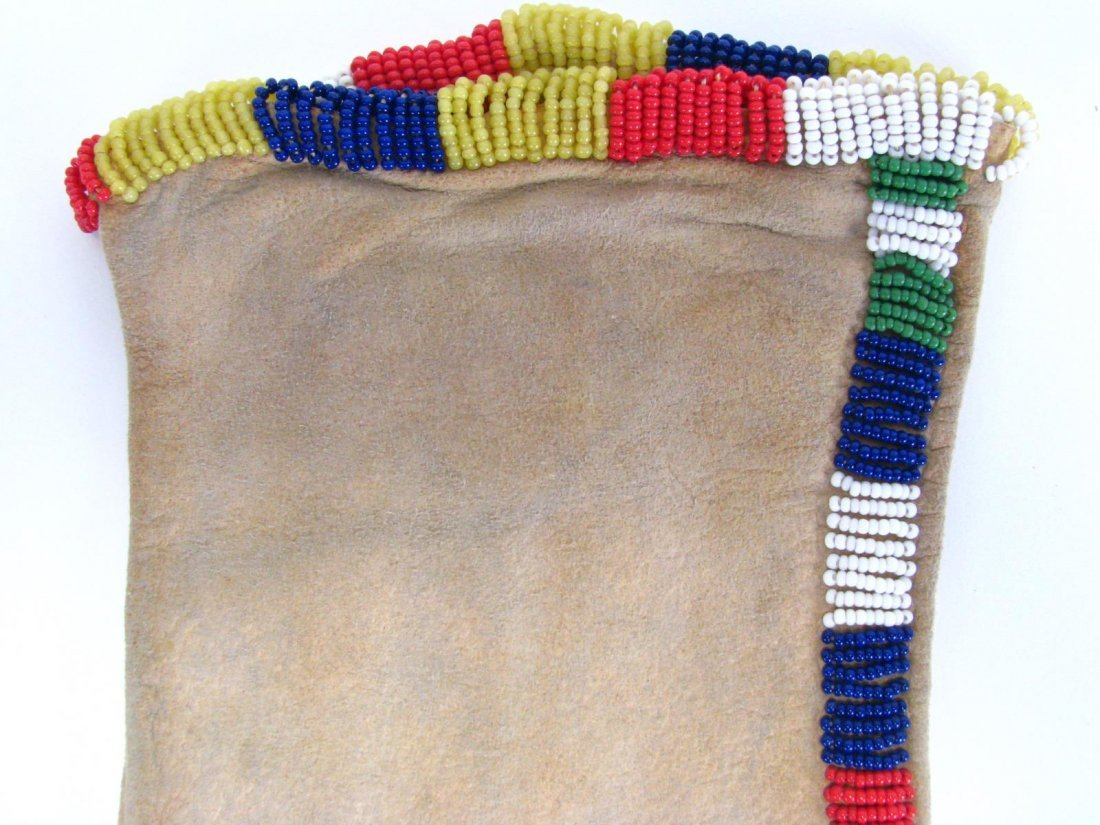 Southern Plains Apache Beaded Pipe Bag - 4