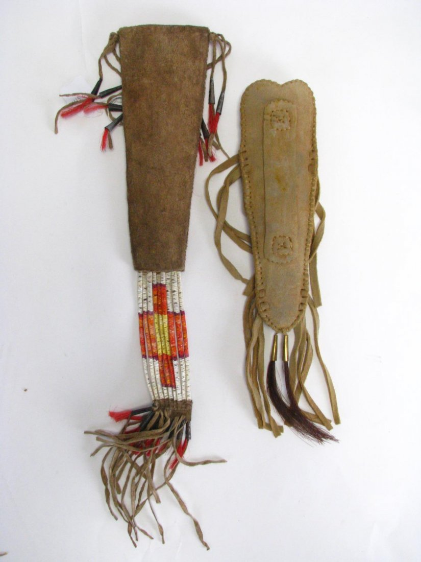 Two Native American Quill Work Sheaths - 2