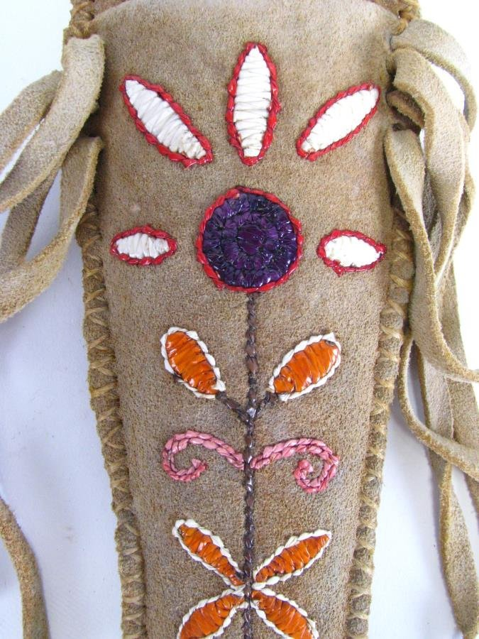 Two Native American Quill Work Sheaths - 4