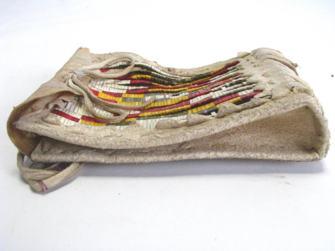Sioux Indian Quillwork Hide Pouch - 3