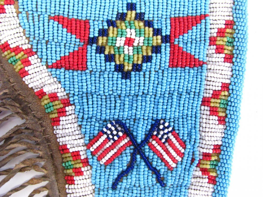 Sioux Indian Beaded Gun Holster and Sheath - 6
