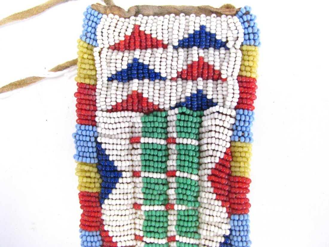 Sioux Indian Beaded Gun Holster and Sheath - 7