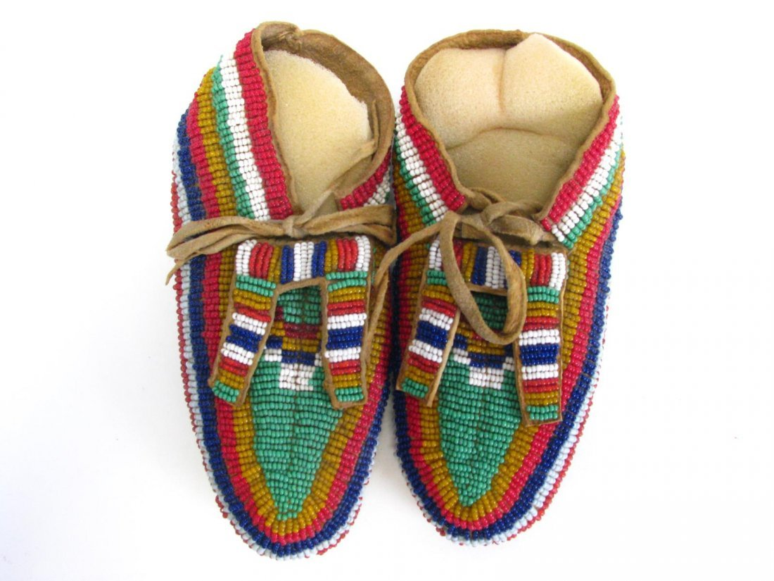 Two Pair of Sioux Indian Beaded Moccasins - 2
