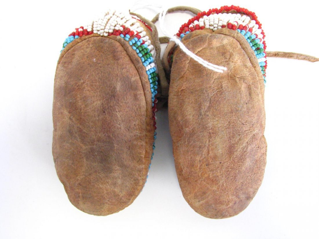 Two Pair of Sioux Indian Beaded Moccasins - 5