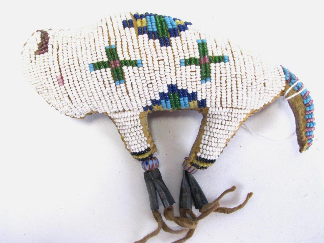 Two Plains Indian Beaded Buffalo Fetishes - 4