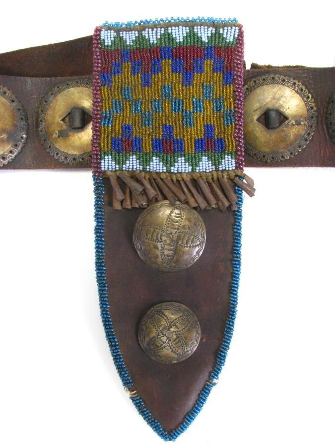 Antique Ute Tribe Ornate Belt and Sheath - 2