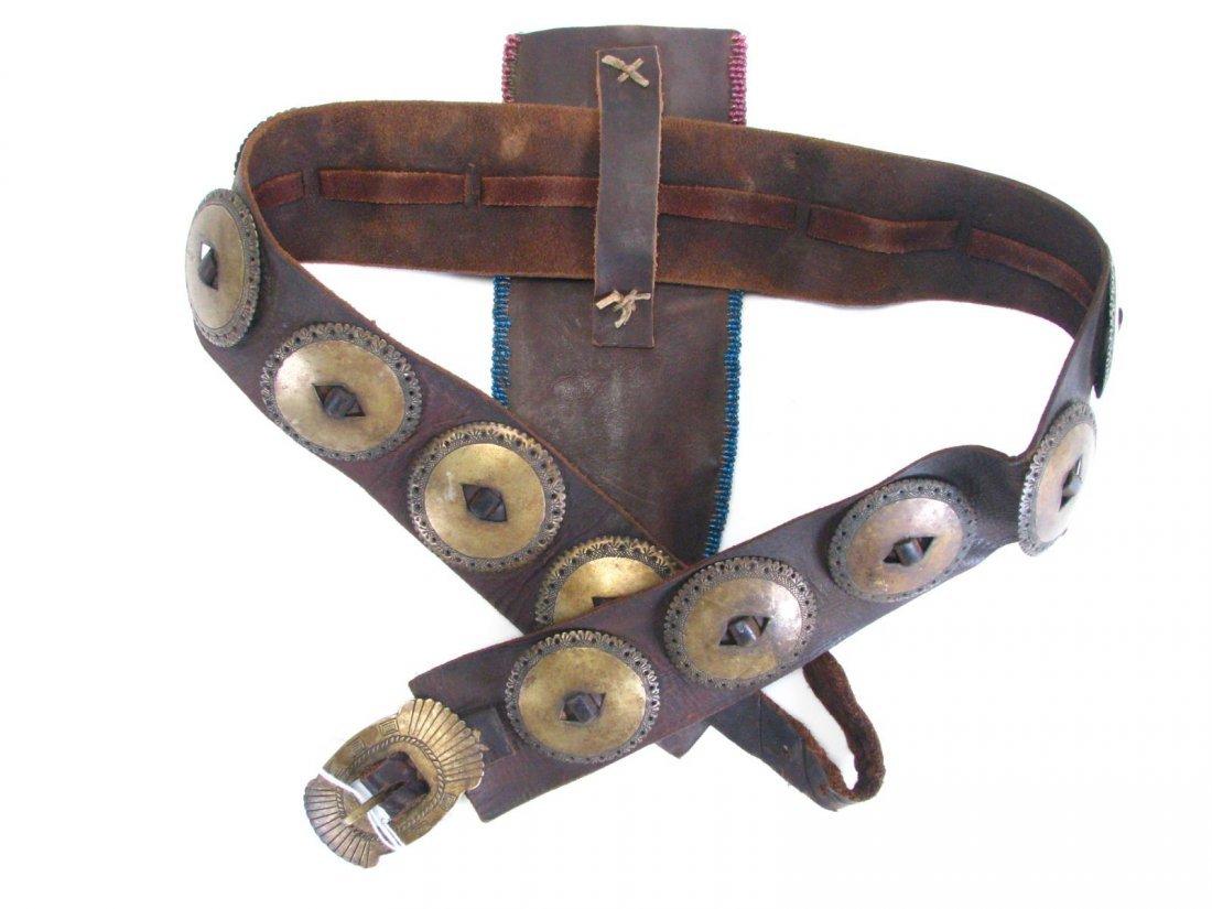 Antique Ute Tribe Ornate Belt and Sheath - 3