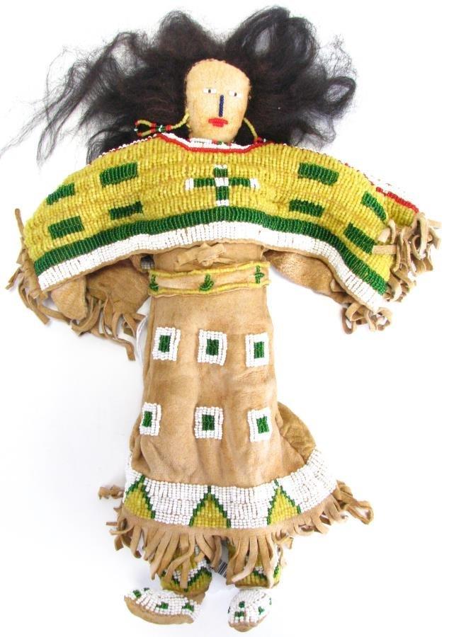 Plains Indian Beadwork Doll