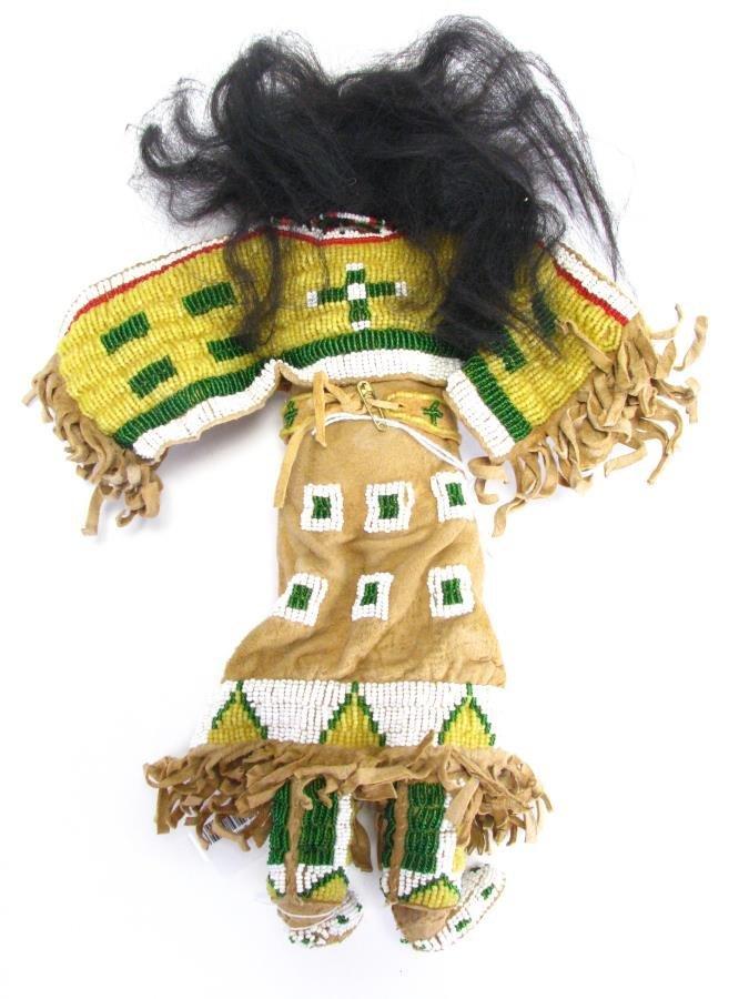 Plains Indian Beadwork Doll - 2
