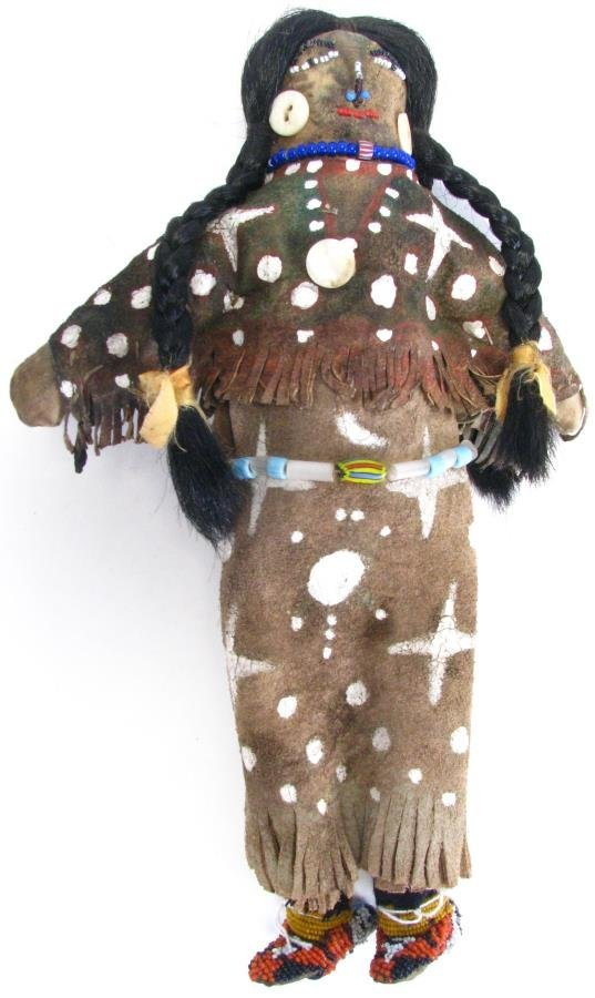 Crow Indian Beaded Doll