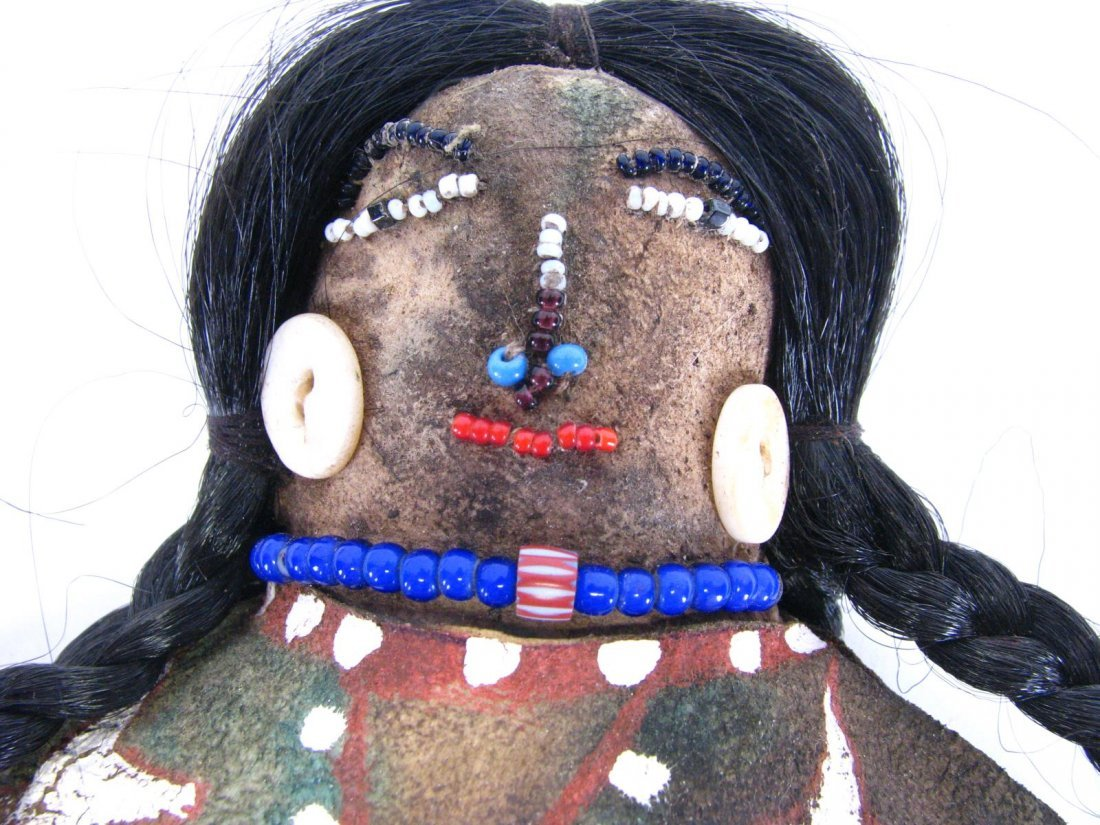 Crow Indian Beaded Doll - 5