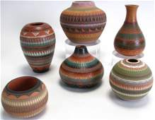 Group of Signed Navajo Pottery